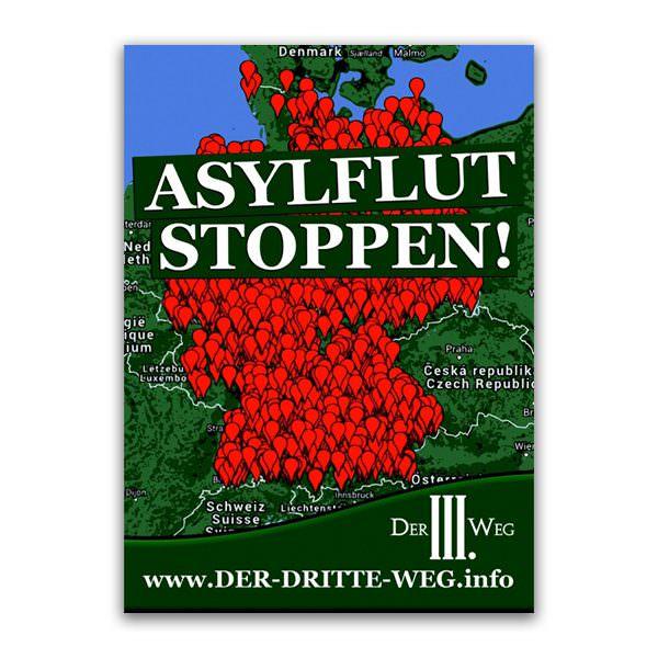 Asylflut stoppen Aufkleber
