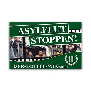 Aslyflut stoppen Aufkleber