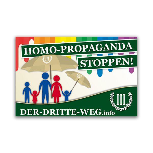 Homo Propaganda stoppen Aufkleber