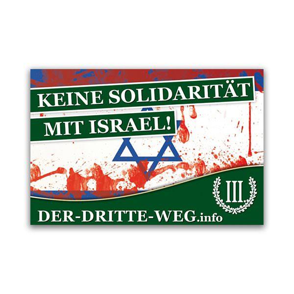 Keine Solidarität mit Israel Aufkleber