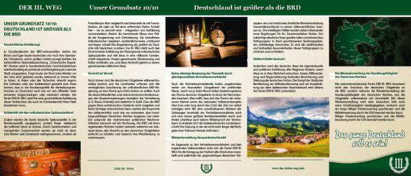 Deutsche Ostgebiete Faltblatt