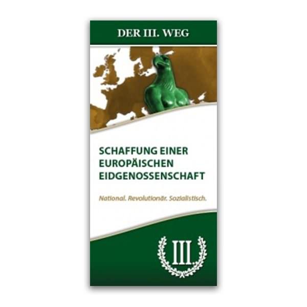 Europäische Eidgenossenschaft Faltblatt