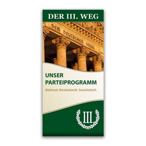 Parteiprogramm DER DRITTE WEG Faltblatt