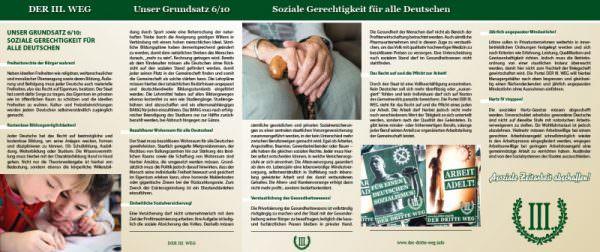 Soziale Gerechtigkeit für alle Deutschen Faltblatt
