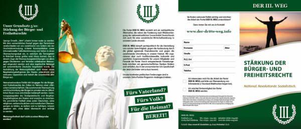 Bürgerrechte Freiheitsrechte Faltblatt
