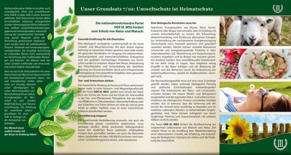 Umweltschutz ist Heimatschutz Faltblatt
