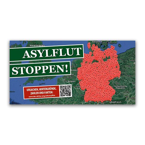 Asylflut stoppen Flugblatt