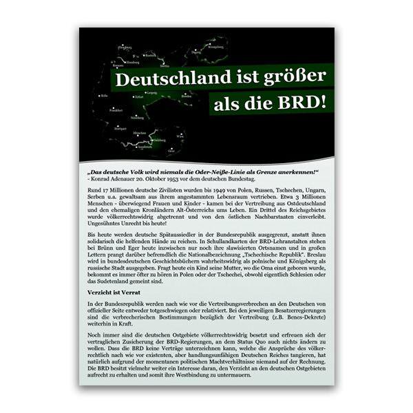 Deutschland ist größer als die BRD Flugblatt
