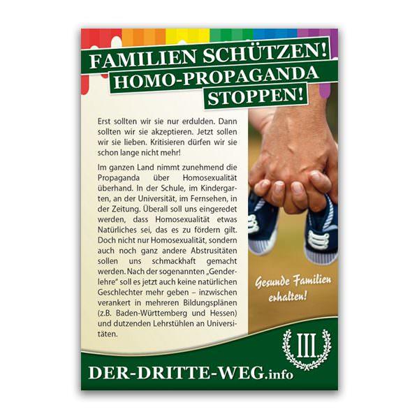 Homopropaganda stoppen Flugblatt