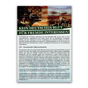 Kein deutsches Blut für fremde Interessen Flugblatt