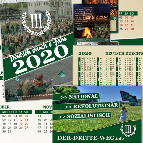 Kalender 2020 Visitenkarten Shopkategorie